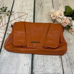 Matt & Nat orange purse vegan leather clutch bag